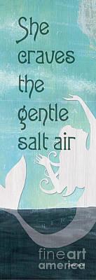 La Mer Mermaid 2 Poster by Debbie DeWitt