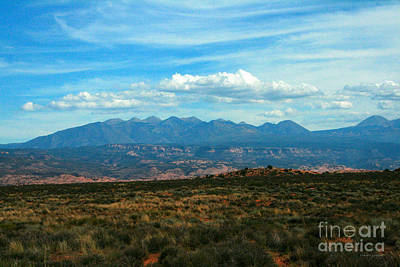 La Sal Mountains, Moab Utah Poster by Corey Ford