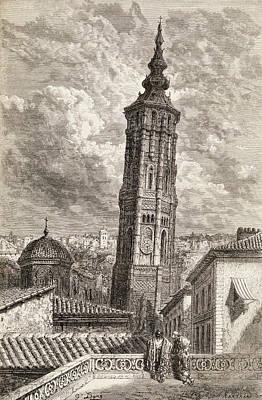 La Torre Nueva Or Inclinada In Poster by Vintage Design Pics