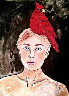 Lady Cardinal Poster by Amy Sorrell