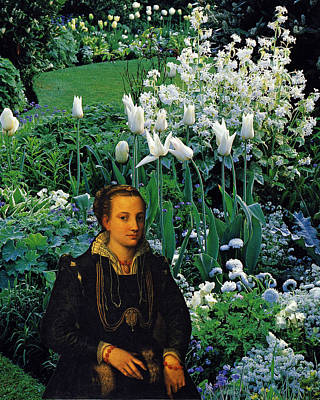 Lady With White Tulips Poster by John Vincent Palozzi
