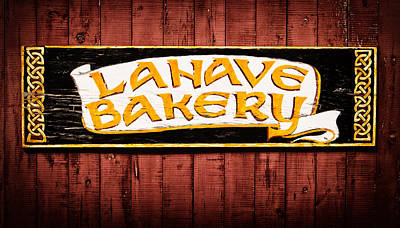 Lahave Bakery Sign Poster by Carolyn Derstine