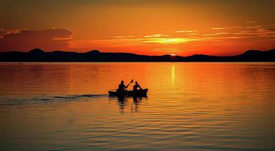 Lake Balaton Sunset Poster by Robert Balog