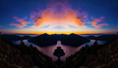 Lake Crescent Reflection Poster by Pelo Blanco Photo