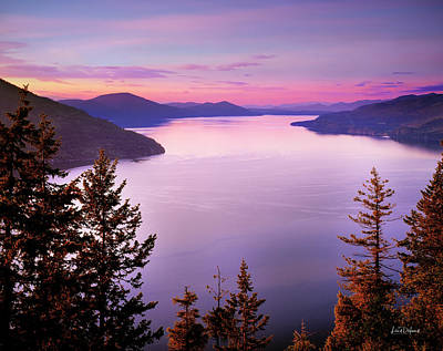 Lake Pend Oreille 2 Poster by Leland D Howard