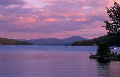 Lake Winnipesaukee Evening Poster by John Burk