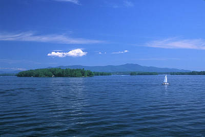 Lake Winnipesaukee Summer Day Poster by John Burk