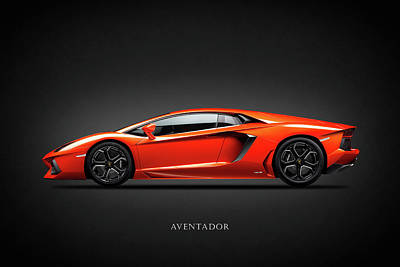 Lamborghini Aventador Poster by Mark Rogan