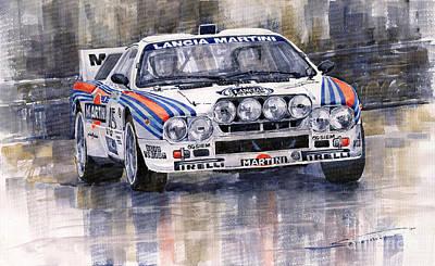 Lancia 037 Martini Rally 1983 Poster by Yuriy  Shevchuk