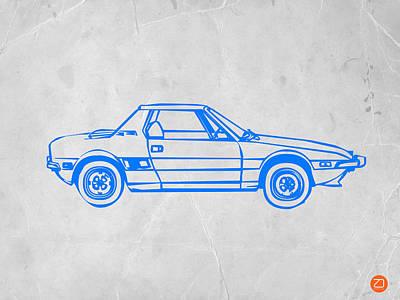 Lancia Stratos Poster by Naxart Studio