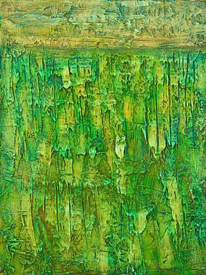 Land In Green Poster by Habib Ayat
