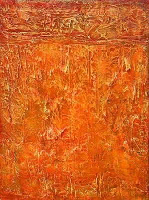 Land In Orange Poster by Habib Ayat