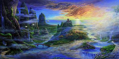Land Of Guanyin Poster by Reb Benno
