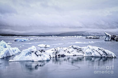 Land Of Ice Poster by Evelina Kremsdorf
