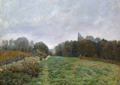 Landscape At Louveciennes Poster by Alfred Sisley