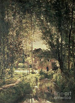 Landscape Poster by Charles Francois Daubigny