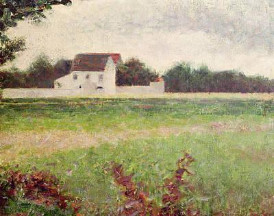 Landscape In The Ile De France Poster by Georges Pierre Seurat