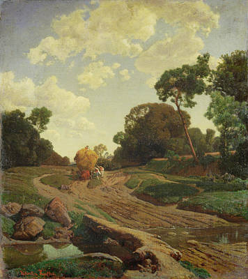 Landscape With Haywagon Poster by Valentin Ruths