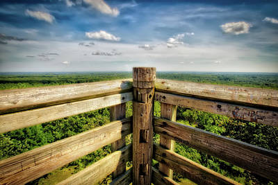 Lapham Peak Wisconsin - View From Wooden Observation Tower Poster by Jennifer Rondinelli Reilly
