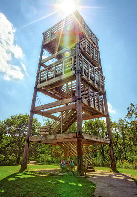 Lapham Peak's Wooden Observation Tower Poster by Jennifer Rondinelli Reilly