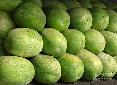 Large Heavy  Watermelons Poster by Yali Shi