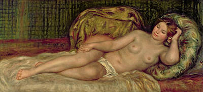 Large Nude Poster by Pierre Auguste Renoir