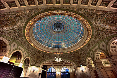 Largest Tiffany Glass Dome - Chicago Poster by Daniel Hagerman