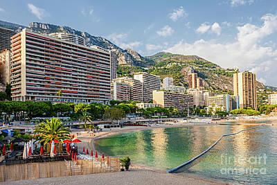 Larvotto Beach In Monaco Poster by Elena Elisseeva