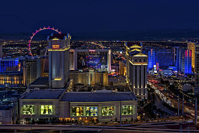 Las Vegas Aerial View Poster by Susan Candelario
