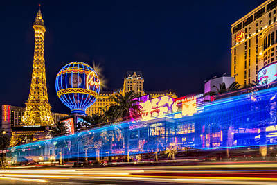 Las Vegas Strip Light Show Poster by Susan Candelario