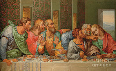 Last Supper Poster by Giacomo Raffaelli