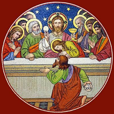 Last Supper Mosaic Poster by Munir Alawi