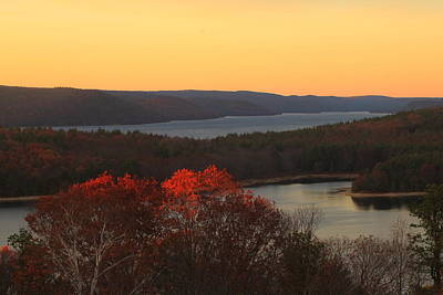 Late Autumn At Quabbin Poster by John Burk