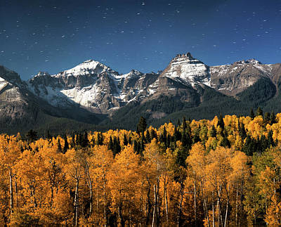 Late Night Sandwich In The Sneffels Wilderness - Triptych Center Poster by Mike Berenson
