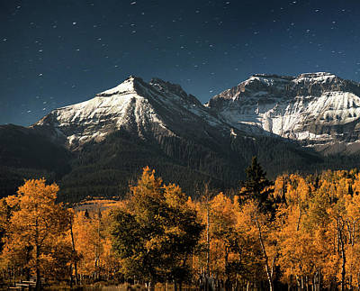 Late Night Sandwich In The Sneffels Wilderness - Triptych Left Poster by Mike Berenson