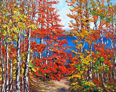Late Summer Ottawa River Poster by Margaret Chwialkowska