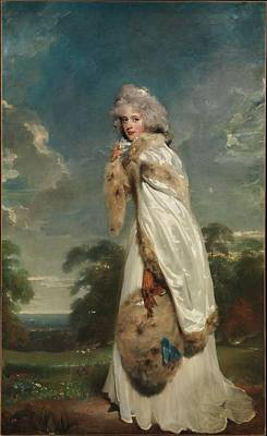 Later Countess Of Derby Artist Sir Thomas Lawrence Poster by Celestial Images