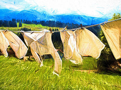 Laundry Poster by Dale  Witherow