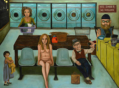 Laundry Day 7 Poster by Leah Saulnier The Painting Maniac