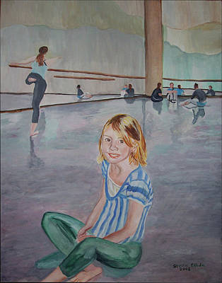 Lauren's Dance Class Poster by Stella Sherman