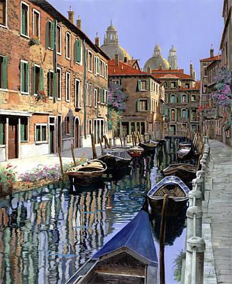 Le Barche Sul Canale Poster by Guido Borelli