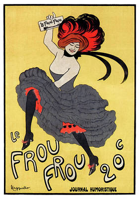 Le Frou Frou Journal Cover 1899 Poster by Daniel Hagerman