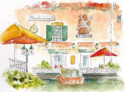 Le Moulin Isle Sur La Sorgue  Poster by Pat Katz
