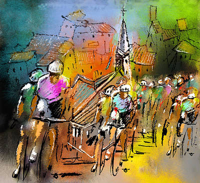 Le Tour De France 04 Poster by Miki De Goodaboom