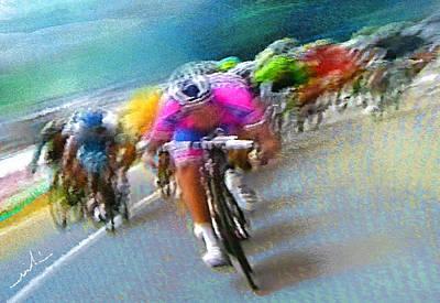 Le Tour De France 09 Poster by Miki De Goodaboom