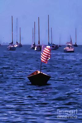 Leader Of The Pack- Bristol Rhode Island Oil Effect Poster by Tom Prendergast