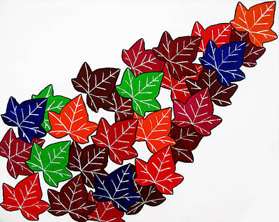 Leaves Poster by Oliver Johnston
