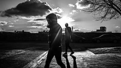 Leaving - Dublin, Ireland - Black And White Street Photography Poster by Giuseppe Milo