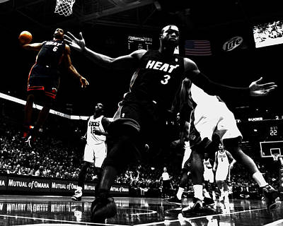 Lebron James 6a Poster by Brian Reaves