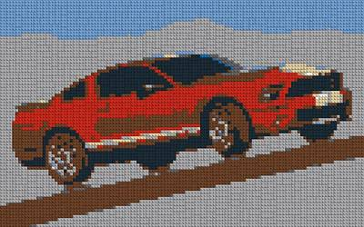 Lego Mustang Poster by Dan Sproul